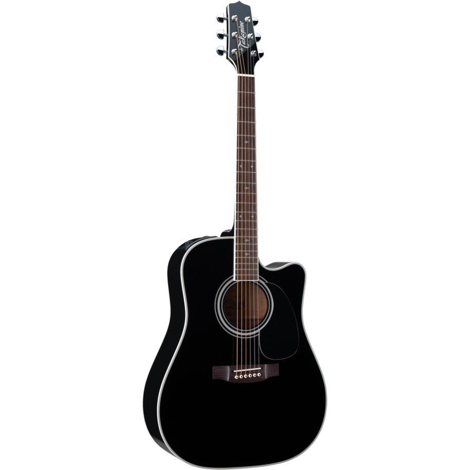 Takamine EF341SC Dreadnought Acoustic Guitar Black